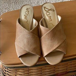 Sam Edelman suede slide sandals. Worn once